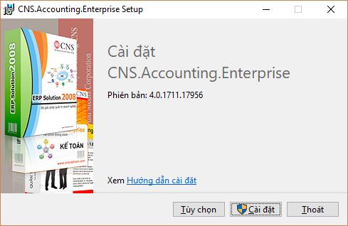 Cài đặt phần mềm kế toán CNS